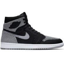 Air Jordan - Shoes Air Jordan 1 Retro High Flyknit BG Gray