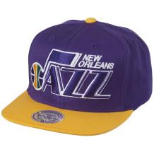 Mitchell & Ness - Casquette NBA Mitchell & Ness Utah Jazz Violette Jaune