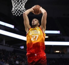 Nike - Maillot de Basket-Ball Homme Nike City Edition Swingman Jersey Utah Jazz Rudy Gobert Orange