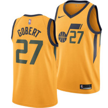 Nike - Jersey NBA Rudy Gobert Utah Jazz Unisex Gold
