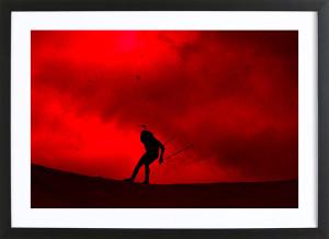 "Martin Fourcade - Poster ""Ciel rouge"""
