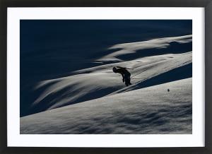 """Martin Fourcade - Poster """"Seul dans la montagne"""""""