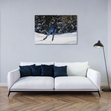 "Martin Fourcade - Aluminium Art poster ""Winter training"""
