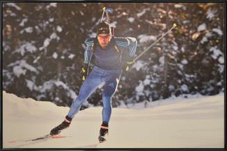 """Martin Fourcade - Aluminium Art poster """"Entraînement hivernal"""""""