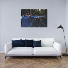 "Martin Fourcade - Aluminium Art poster ""Ma carabine et moi"""