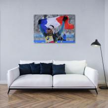 "Martin Fourcade - Aluminium Art poster ""Victory and pride"""
