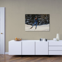 "Martin Fourcade - Acrylic Art poster ""Winter training"""