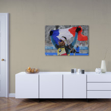 """Martin Fourcade - Acrylic Art poster """"Victory and pride"""""""