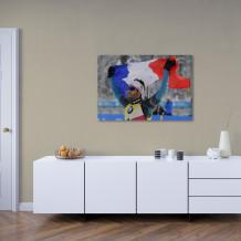 "Martin Fourcade - Acrylic Art poster ""Victoire et fierté"""
