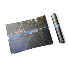 "Martin Fourcade - Poster ""My rifle and I"""
