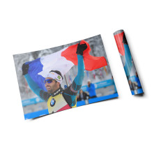 "Martin Fourcade - Poster ""Victory and pride"""