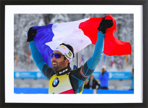 """Martin Fourcade - Poster """"Victoire et fierté"""""""