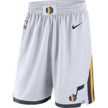 Nike - Shorts Men Nike Association Swingman Shorts Utah Jazz White