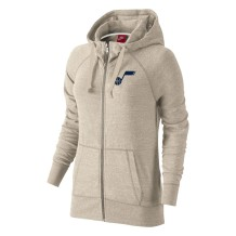 BCS - Full Zip Hoodies & Sweat-shirts Women BCS W Logo Gym Vintage Full Zip Utah Jazz Ivory