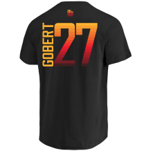 Majestic - Name & Number T-Shirts Men Majestic 17 City Edition Custom N&N Tee Utah Jazz Rudy Gobert Black