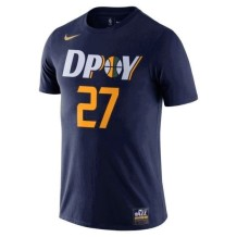 Nike - Name & Number T-Shirts Men Nike 18 DPOY Shootaround N&N Tee Utah Jazz Rudy Gobert Navy