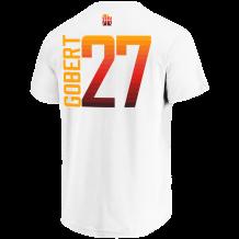 6b99c618d52 Majestic. Name   Number T-Shirts Men Fanatics Exclusive CE Vertical N N Tee  Utah Jazz Rudy Gobert White