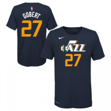 Nike - T-shirt NBA Rudy Gobert Utah Jazz bleu Junior