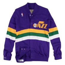 Mitchell & Ness - Jackets & Coats Men Mitchell & Ness Hardwood Classic Stripe Sweater Utah Jazz Purple