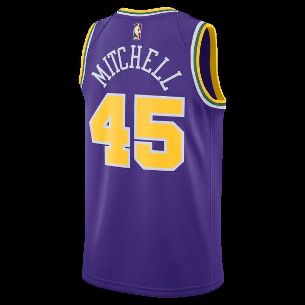 best website a9248 cb4ae Basket-Ball Jersey Man Nike 18 Hardwood Classic Swingman Jersey Utah Jazz  Donovan Mitchell Purple