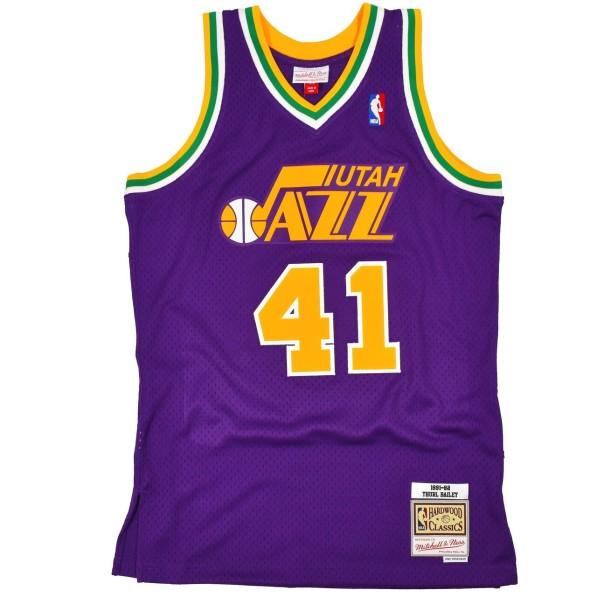 new concept 5125e 5f8bc Basket-Ball Jersey Man Mitchell & Ness 80s Hardwood Classic Swingman Jersey  Utah Jazz Thurl Bailey Purple