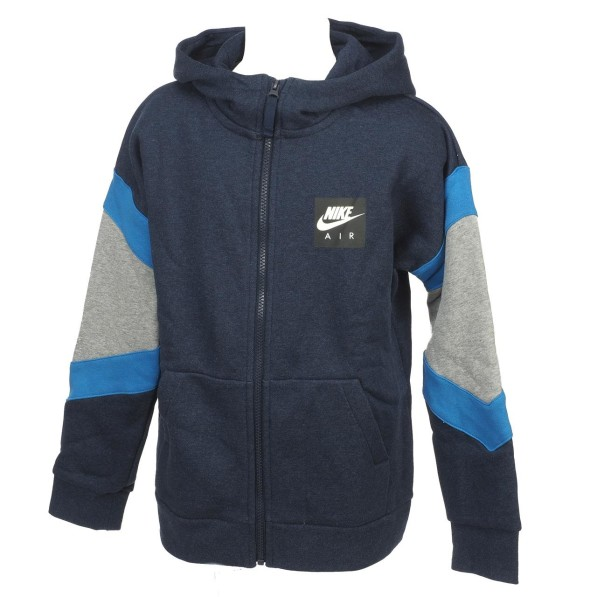 Sweat Multisport Enfant Capuche Nike Air hoodie fz jr bleu