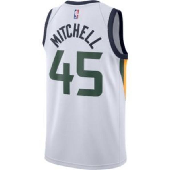best loved 7d990 b7169 Basket-Ball Jersey Man Nike Association Swingman Jersey Utah Jazz Donovan  Mitchell White