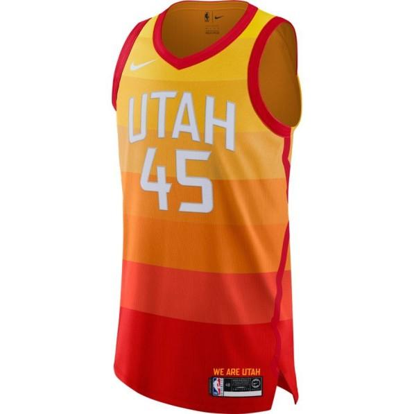 best website 20aa5 b78ec Basket-Ball Jersey Man Nike Authentic City Edition Jersey Utah Jazz Donovan  Mitchell
