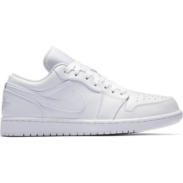 plus récent 3bbc3 34fee Chaussure Air Jordan 1 Low Blanc pour homme