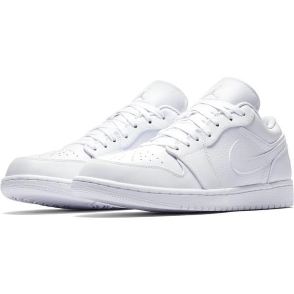 plus récent 4db0d ab805 Chaussure Air Jordan 1 Low Blanc pour homme