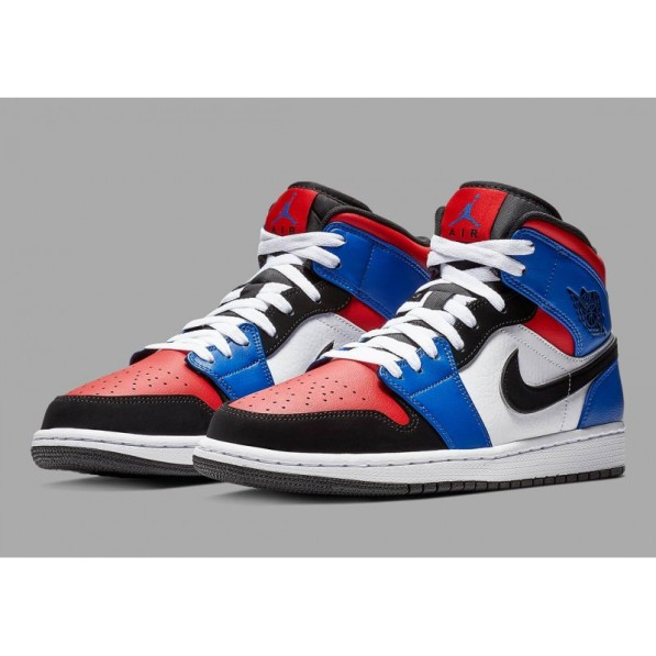 best online pre order to buy Jordan Chaussure Air 1 Mid Top Three Bleu pour homme - Rudy Gobert ...