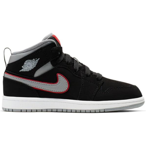 vente chaude en ligne b4692 8fc14 Chaussure de Basket Air Jordan 1 Mid (PS) Noir pour enfant