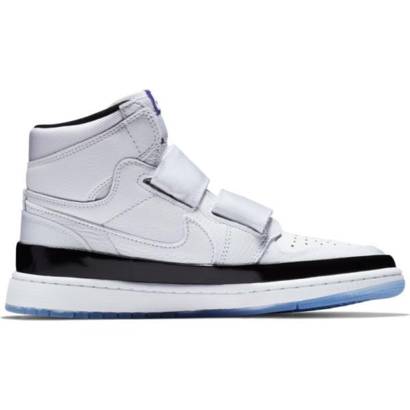 le dernier 7eab2 c666d Chaussure de Basket Air Jordan 1 Retro high Double Strap Blanc pour homme