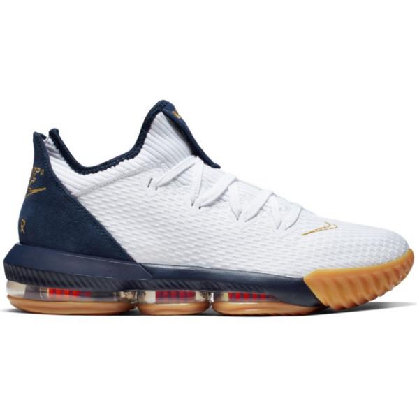 Chaussure de Basketball Nike LeBron XVI Low Olympic USA Blanc pour Homme