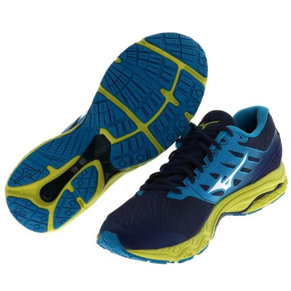 MIZUNO homme wave Prodigy 2 Chaussures De Course Baskets Sneakers Bleu Sports