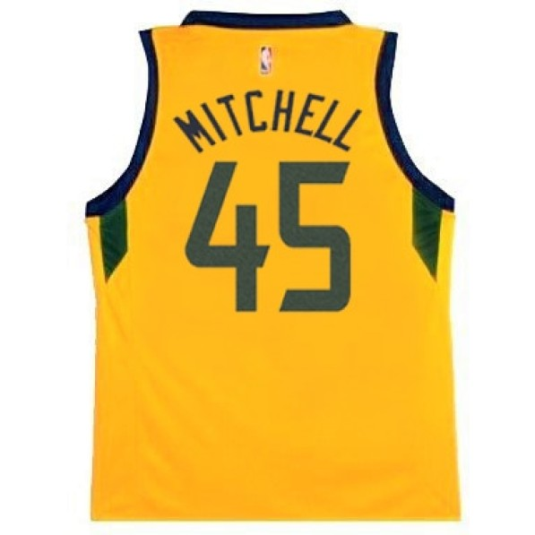 size 40 4f66e df04b Basket-Ball Jerseys Kids Outerstuff Tod Statement Replica Jersey Utah Jazz  Donovan Mitchell Gold