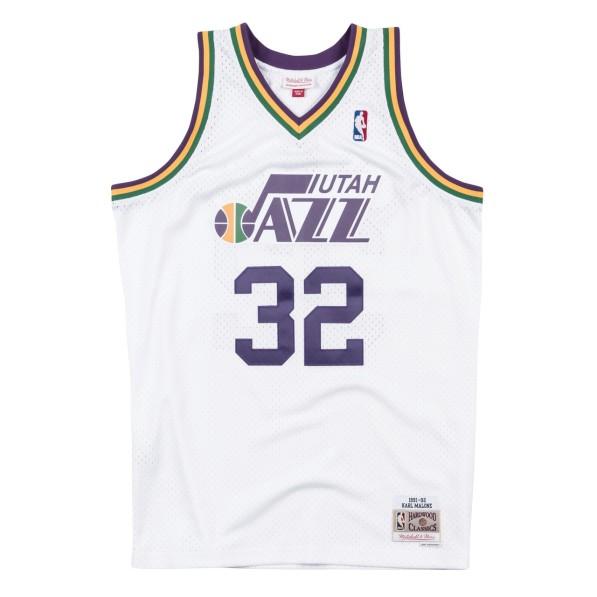 buy popular 597f1 90bba Basket-Ball Jerseys Men Mitchell & Ness 80s Hardwood Classic Swingman  Jersey Utah Jazz Karl Malone White