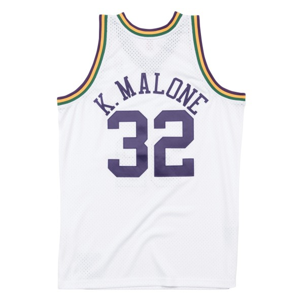 buy popular 6b258 db0c8 Basket-Ball Jerseys Men Mitchell & Ness 80s Hardwood Classic Swingman  Jersey Utah Jazz Karl Malone White