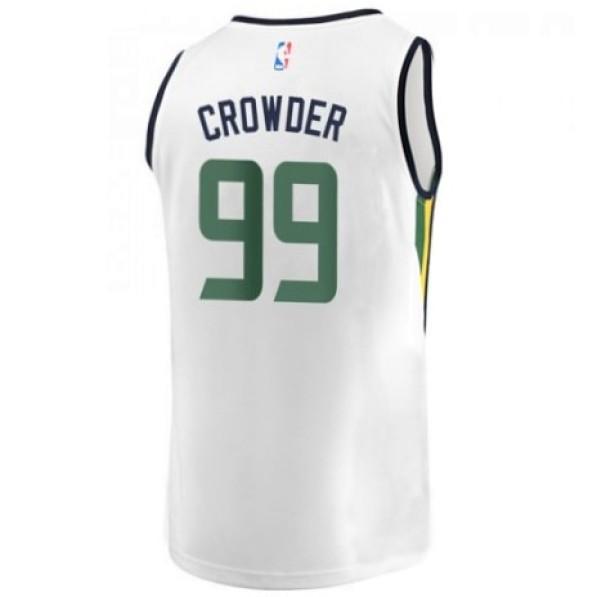 sale retailer 0f9b2 b7f0b Basket-Ball Jerseys Men Fanatics Association Fastbreak Replica Jersey Utah  Jazz Jae Crowder White