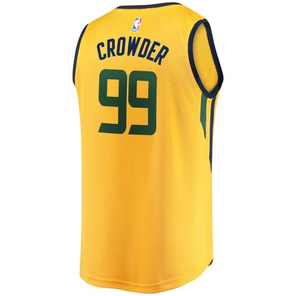 san francisco 00525 4ee27 Basket-Ball Jerseys Men Fanatics Statement Fastbreak Replica Jersey Utah  Jazz Jae Crowder Gold