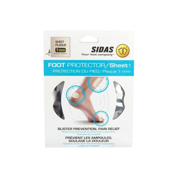 Sidas Plaque Protection Foot Protector 01 Sheet