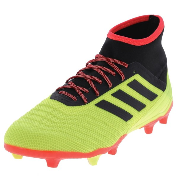 Chaussures Football Crampons Lamelles Homme Adidas Predator 18.2 fg jaune