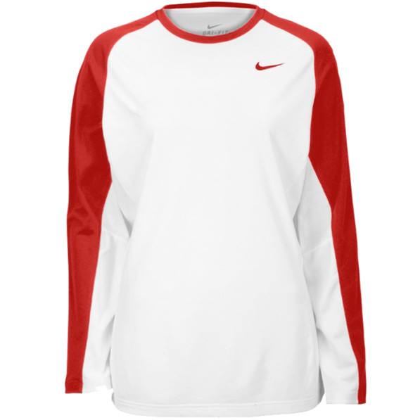 design de qualité 426a5 8e878 Shooting Shirt Nike Elite Female White/Red Manches Longues -Personnalisable-