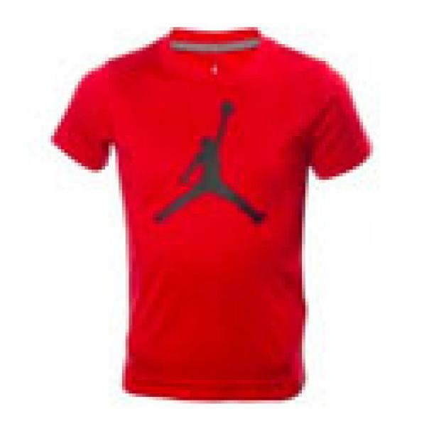 en soldes 828e1 4b9f8 T-shirt Jordan Big Logo Rouge BLK Pour Enfant