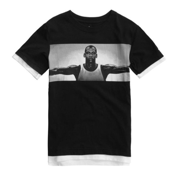 grossiste 07414 32246 T-shirt Jordan Free Throw Fly Noir Pour Enfant