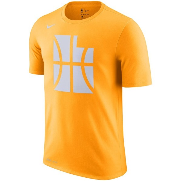 303362d7b T-Shirts Men Nike City Edition Dry Essential Tee Utah Jazz Orange