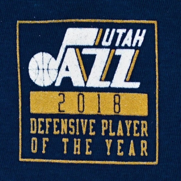 406fab35be74 Name   Number T-Shirts Men Nike 18 DPOY Shootaround N N Tee Utah Jazz Rudy  Gobert Navy