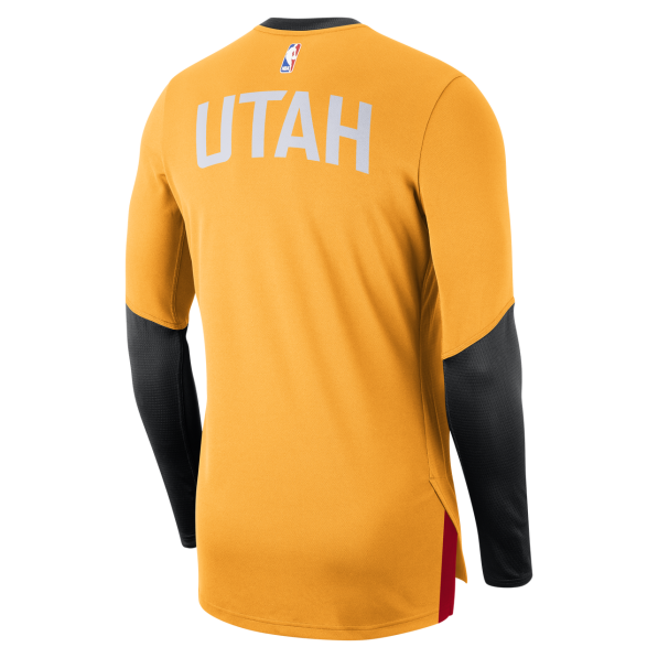 finest selection f8997 a64fe Long Sleeve Shirts Men Nike City Edition Dry Top Longsleeve Utah Jazz Orange