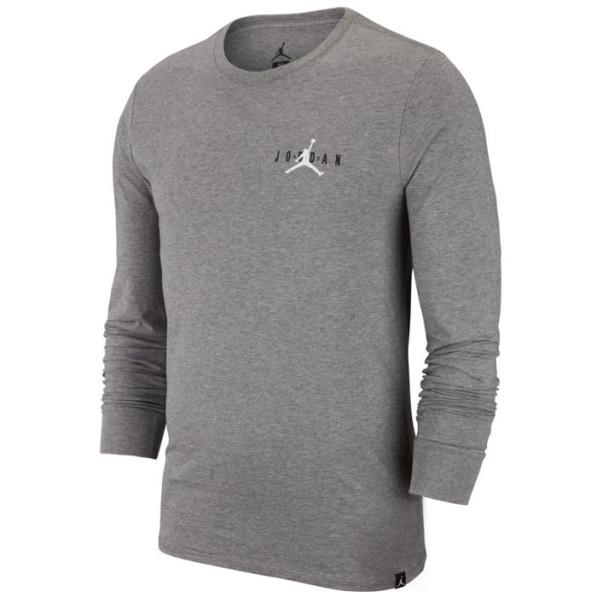 463042aad3fb Air Jordan Long sleeve tee shirt Jordan Sportswear Air Jumpman Gray - Rudy  Gobert