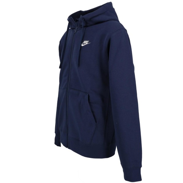 Veste Molleton Multisport Homme Capuche Zippé Nike Club zip hoodie marine